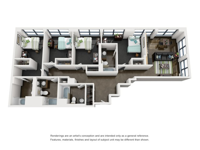 Lincoln 3D Floorplan