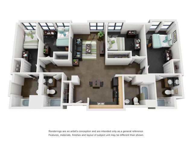 Monroe 3D Floorplan