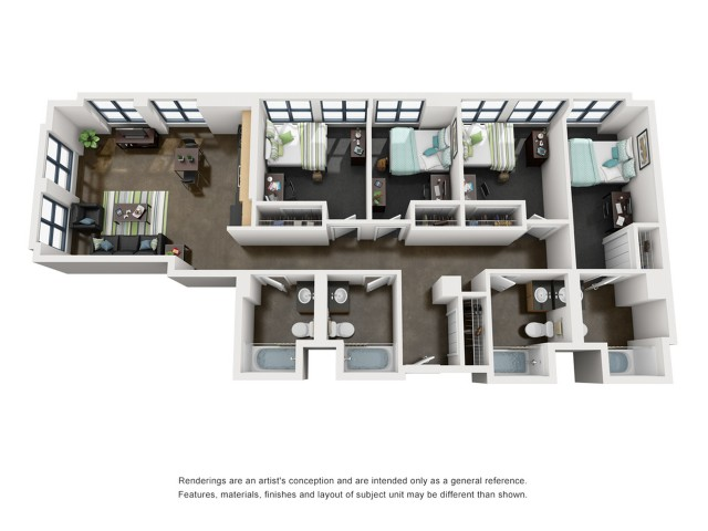Polk 3D Floorplan