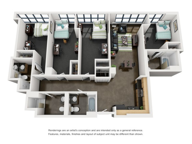 Roosevelt 3D Floorplan