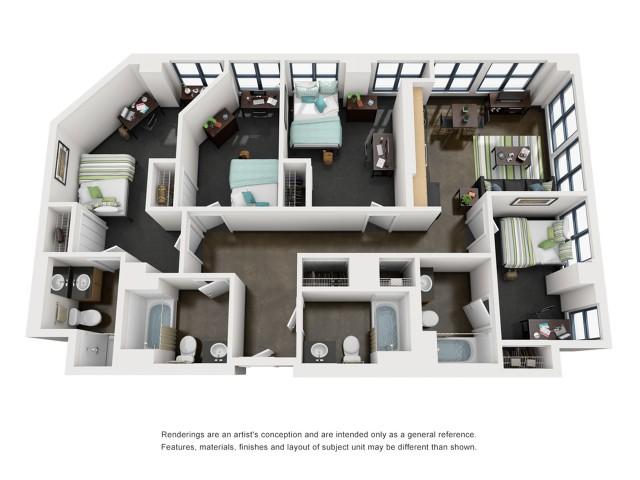 VanBuren 3D Floorplan