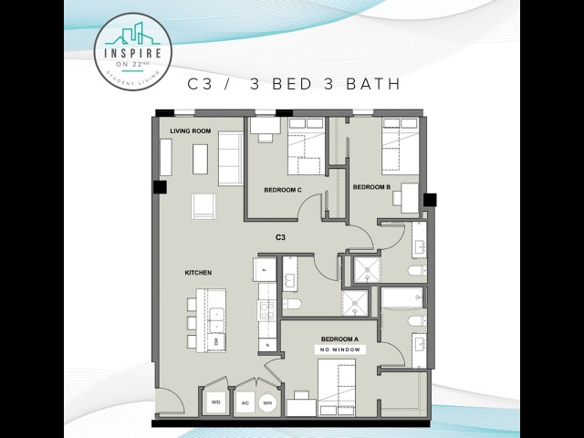 Three Bed, Three Bath