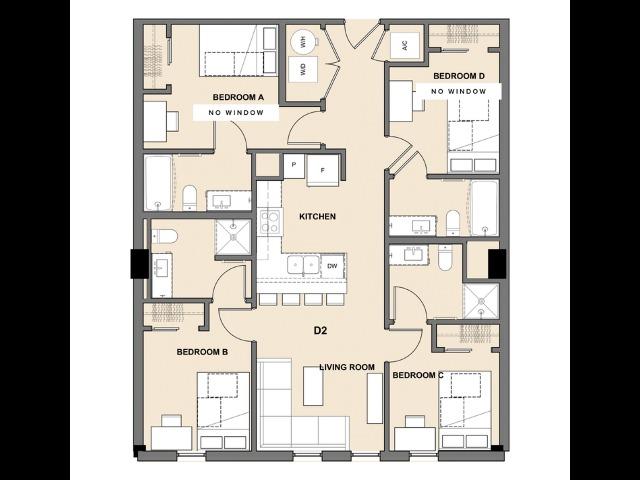 Four Bedroom, Four Bathroom