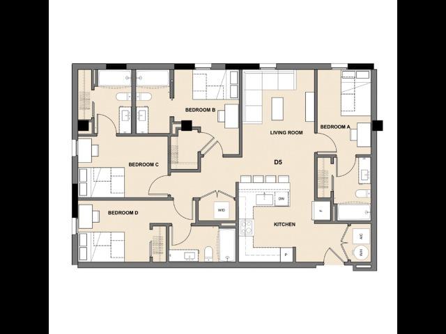 Four Bedroom, Four Bath