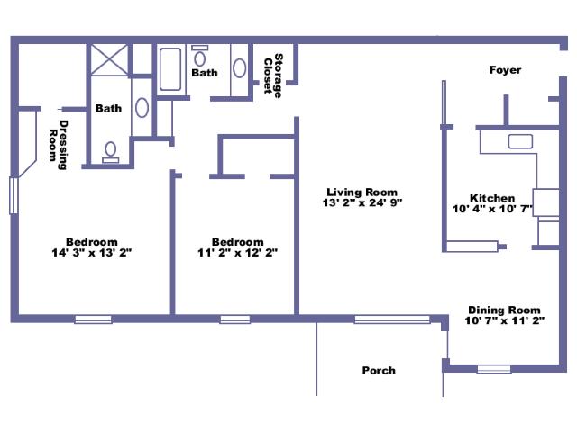 Malone 2D floor plan
