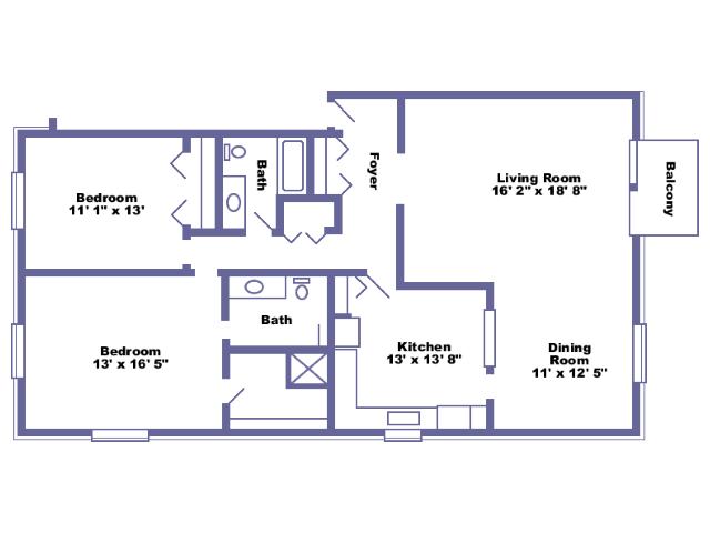 Langley floor plan 2D
