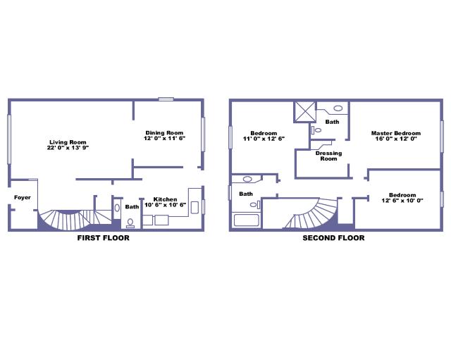 Roxton 2D floor plan