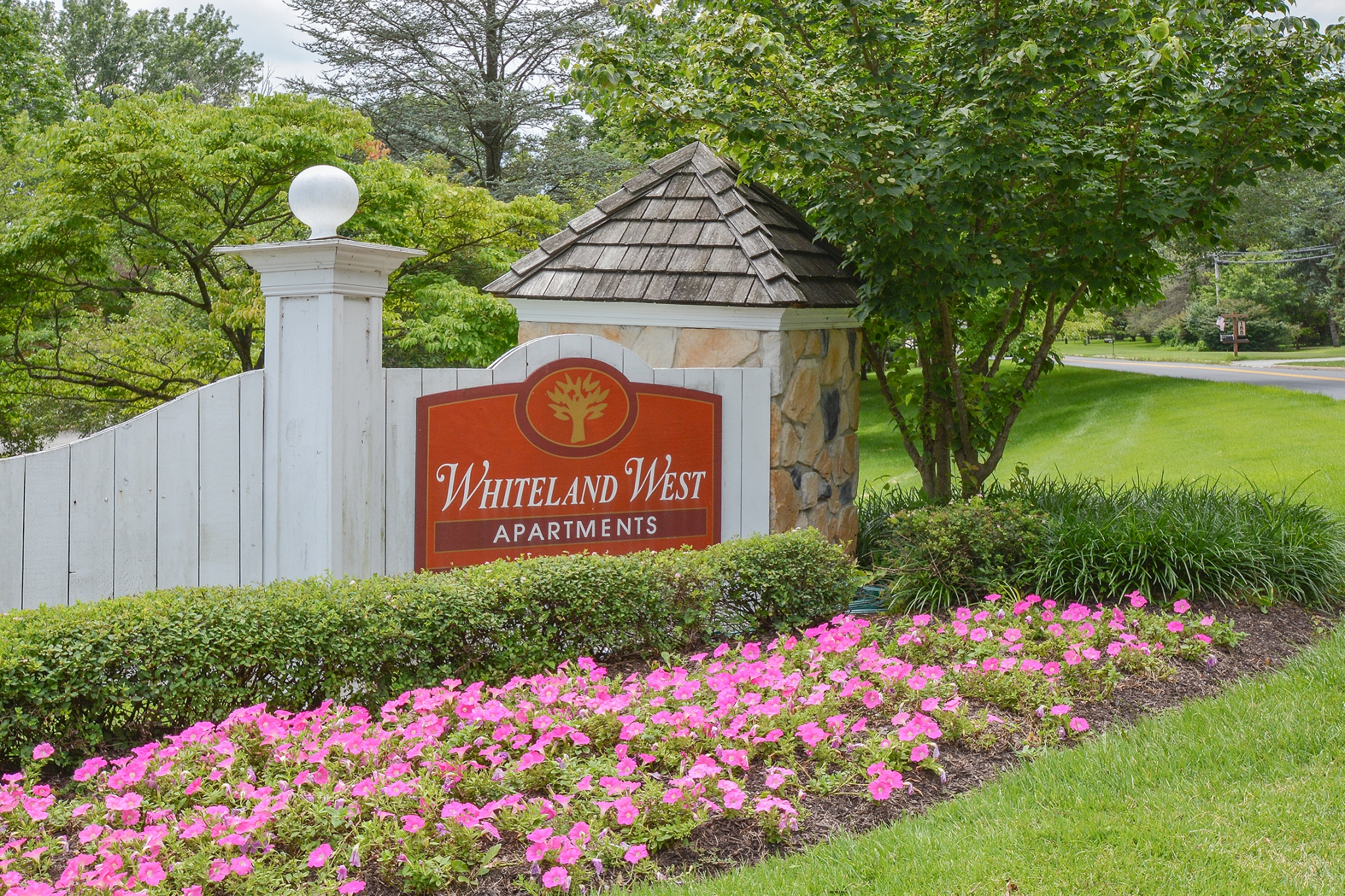 Whiteland West Red Welcome Sign | Apartments near Exton PA