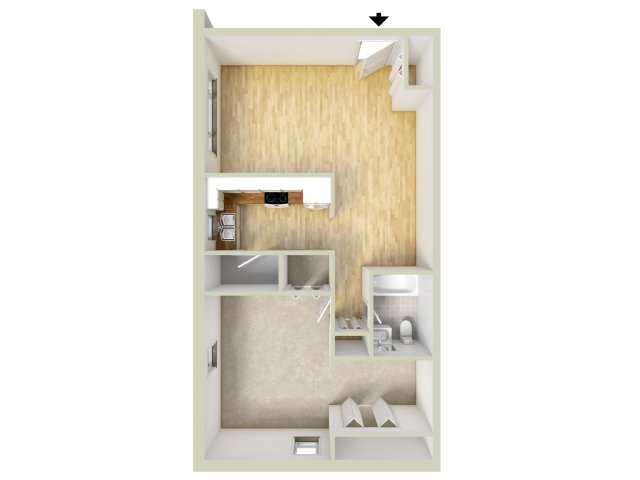 Allandale one bedroom floor plan