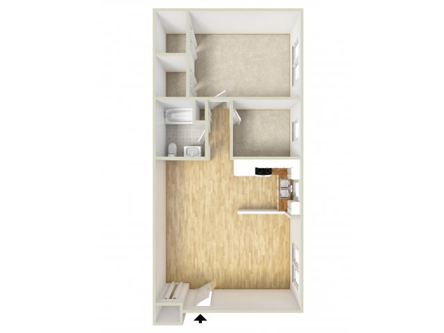 One Bedroom Bottom
