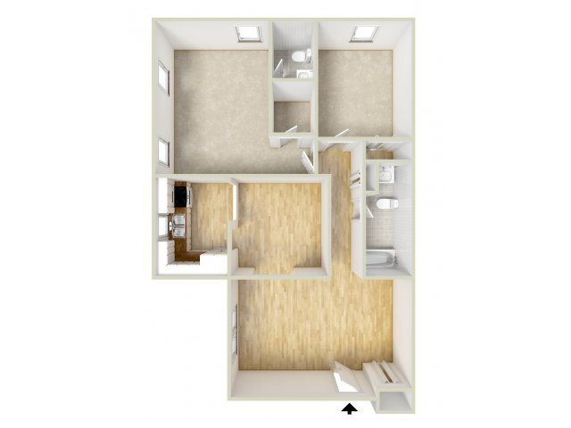 Two Bedroom Bottom