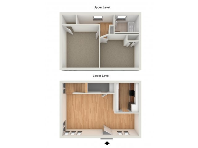 Two bedroom townhome floor plan
