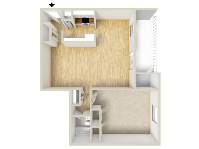 One Bedroom North