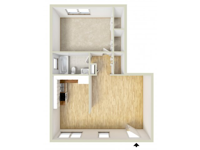 One Bedroom South