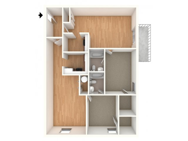 One bedroom Junior floor plans