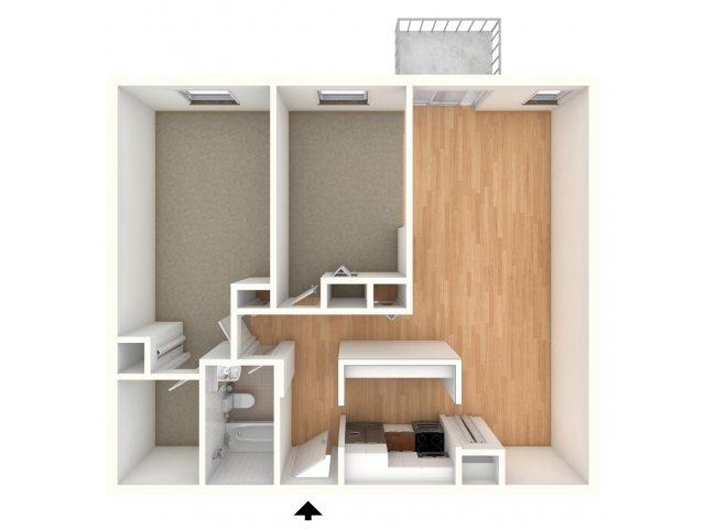 One bedroom den floor plan