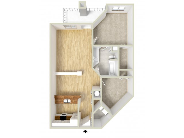Howard - one bedroom with den floor plan