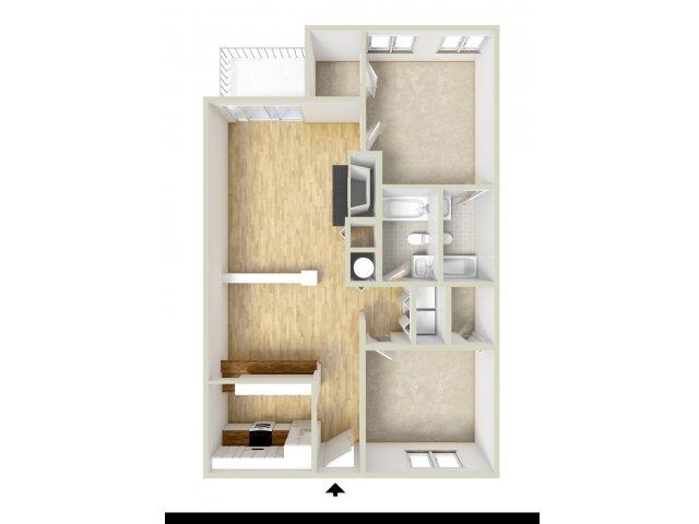 Keystone - two bedroom floor plan