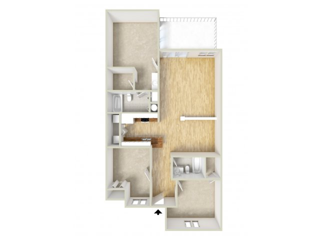 Nelson - three bedroom floor plan
