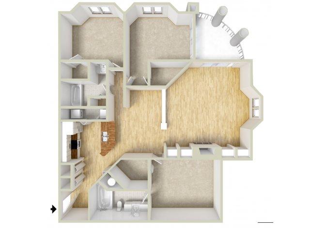 Owen - three bedroom floor plan