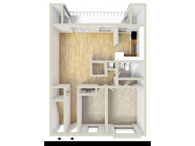 Two Bedroom 1st Floor