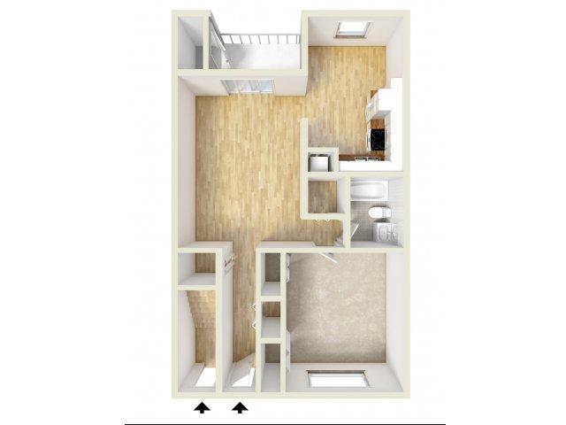 One Bedroom 1st Floor