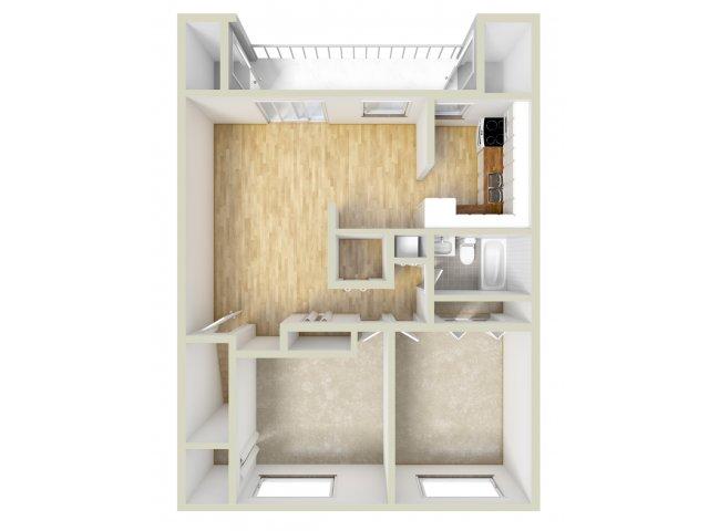 Two Bedroom 2nd Floor