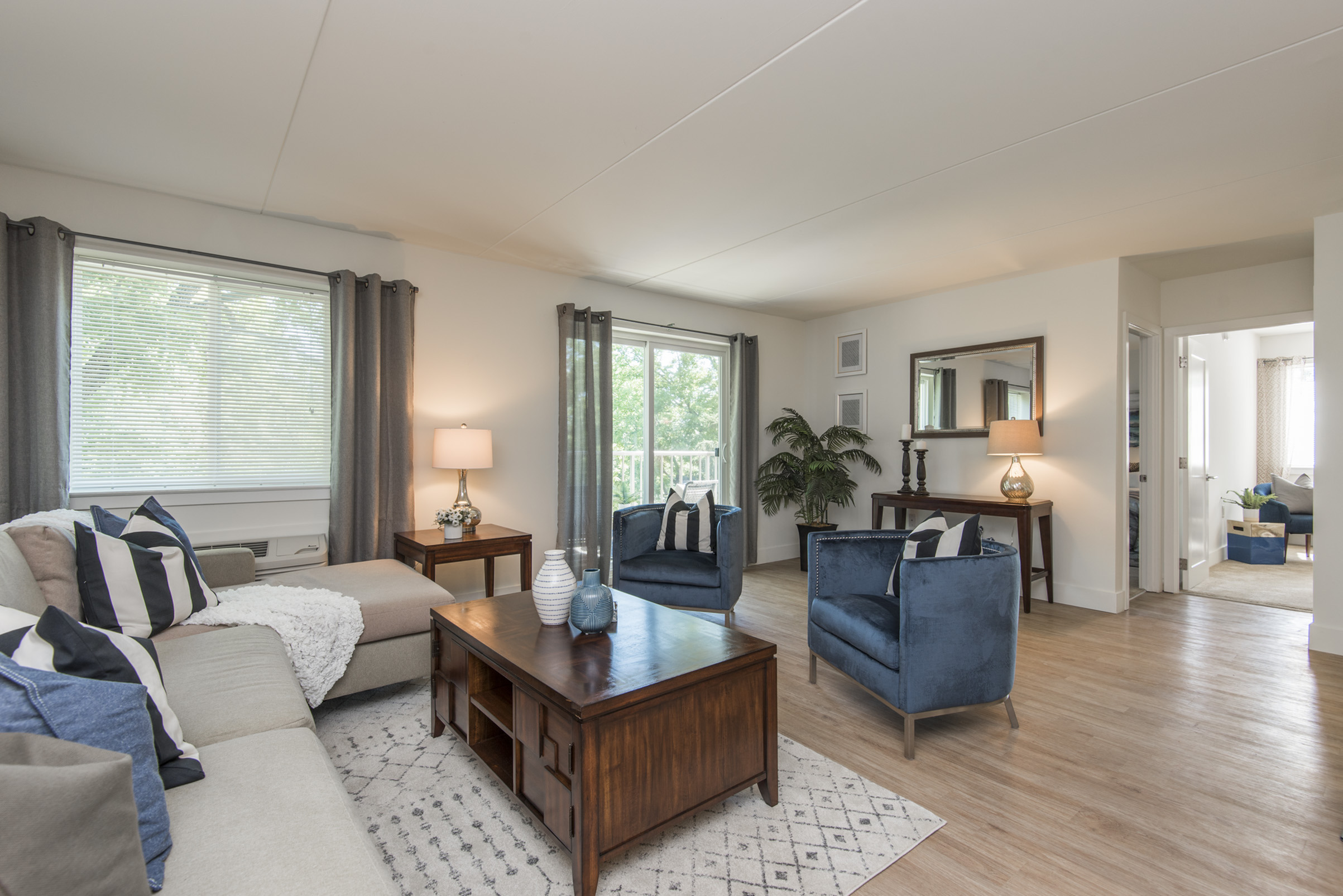Gulph Mills Village Sample Living Area | King Of Prussia PA Apartments