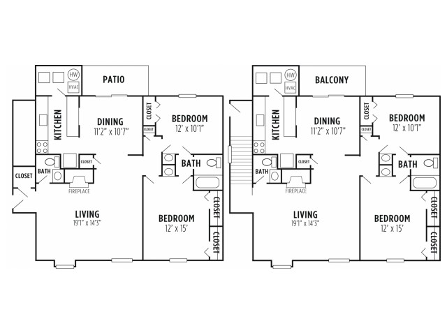 Floor Plan 1 | Apartments In Wyomissing PA | Victoria Crossing Apartments