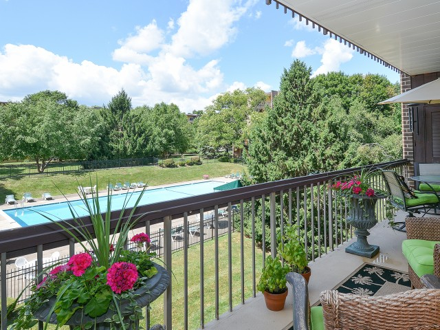 Main Line Berwyn Spacious Balcony with Community View | Berwyn Apartments
