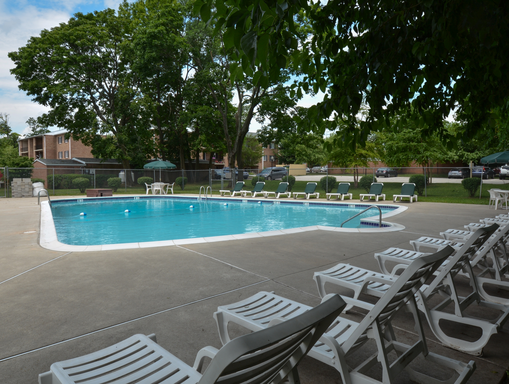 Paoli Place Swimming Pool with Chairs | Paoli PA Apartments