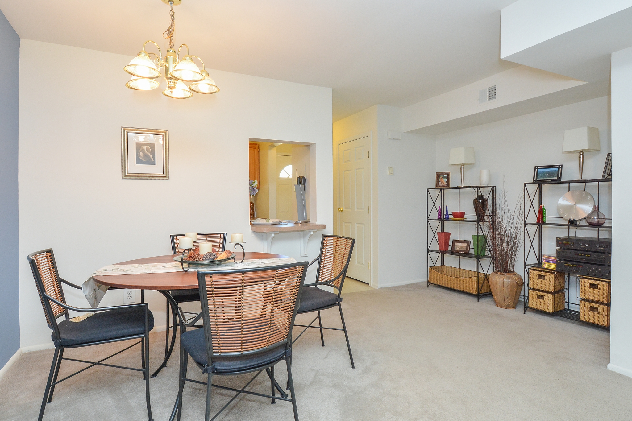 Wyntre Brooke Sample Dining Room with Storage Space | Apartments Near West Chester