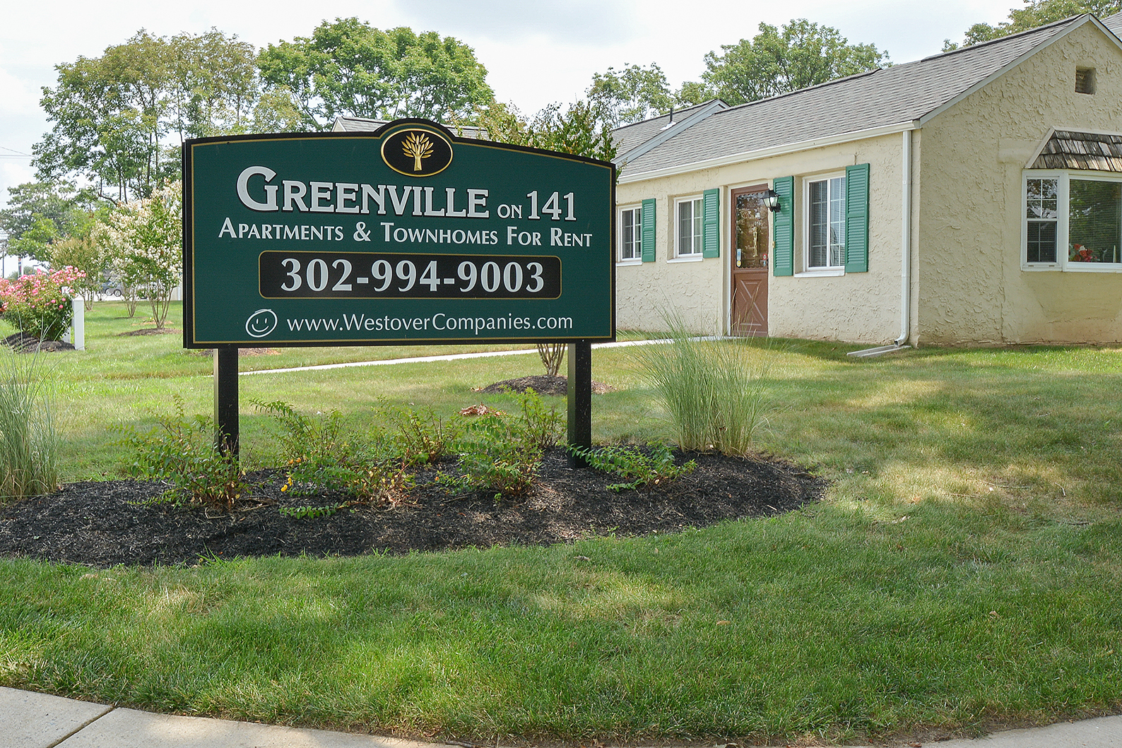 Greenville on 141 Green Welcome Sign | Apartments Near Wilmington DE