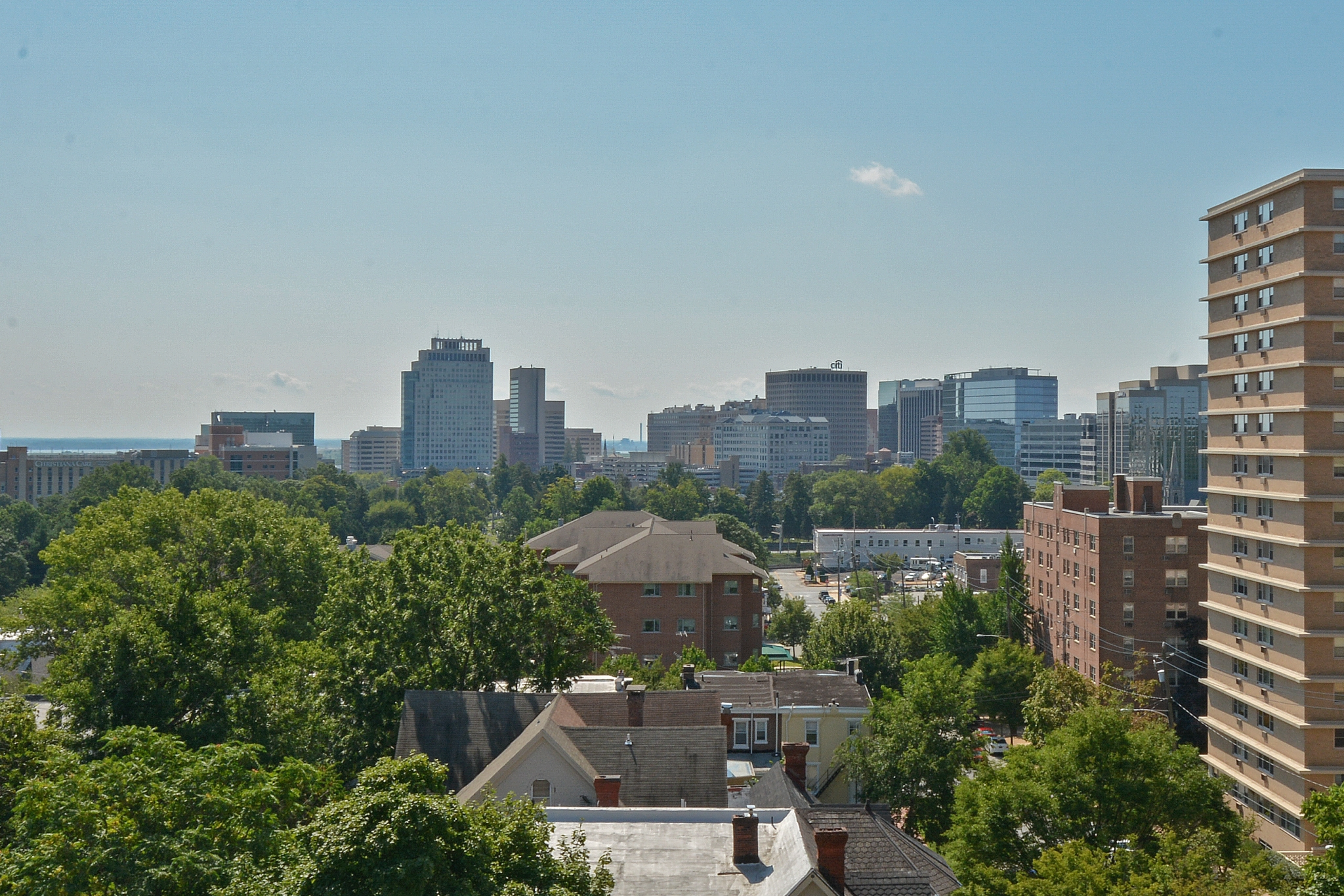 Gilpin Place Rooftop Patio with City View | Apartments Near Wilmington DE