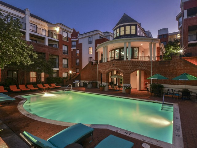 Waterloo Place Swimming Pool At Night | Baltimore Apartments For Rent