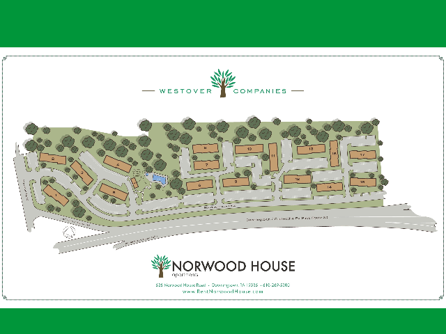 Norwood House Site Map