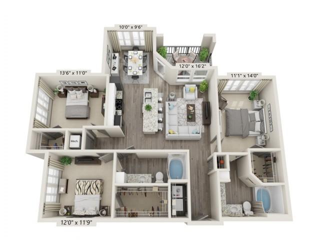 E1 Floor Plan