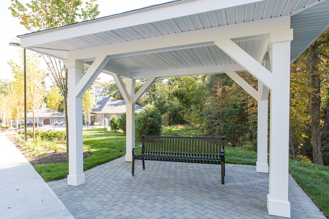 Community Outdoor Seating and Gazebo