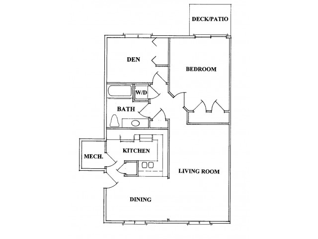 One Bedroom With Den Floorplan