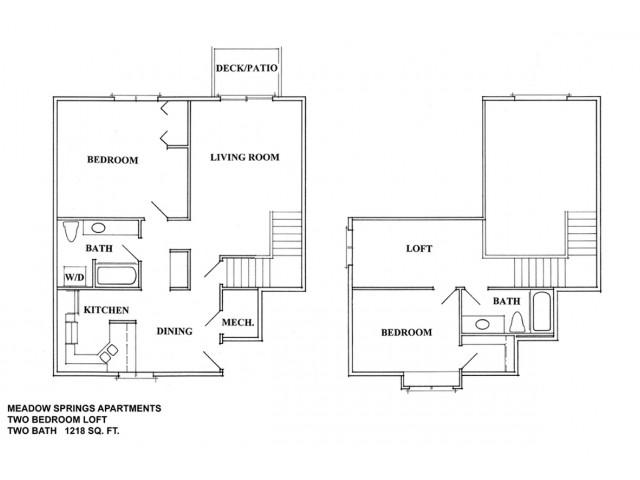 2 Bedroom 2 Bath Loft