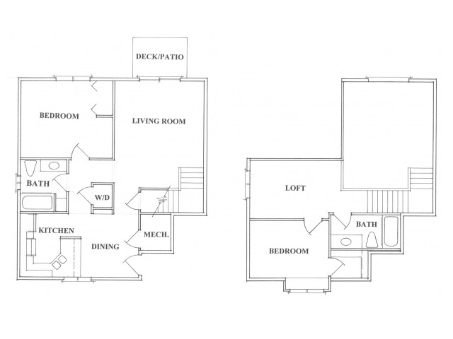 Two Bedroom Two Bath Loft