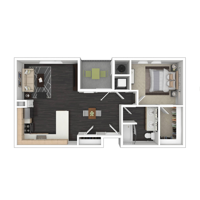 1E  | Parq at Iliff | Aurora Apartments