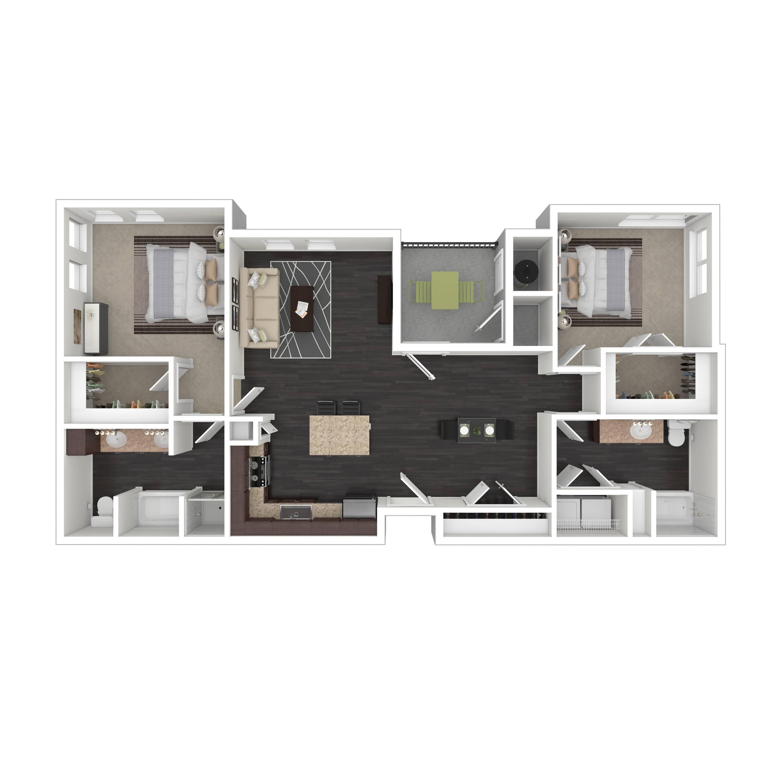 2D | Parq at Iliff | Aurora Apartments
