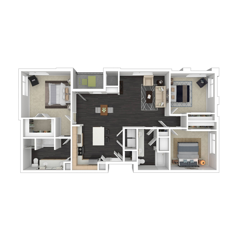 3B | Parq at Iliff | Aurora Apartments