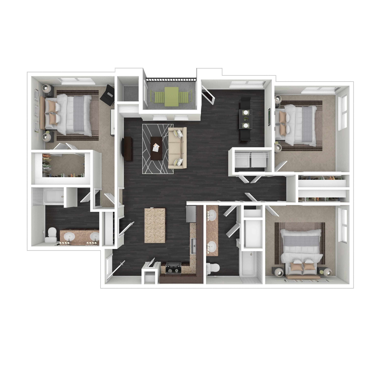 3C | Parq at Iliff | Aurora Apartments