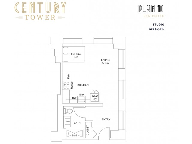 Studio Plan 10 Renovated