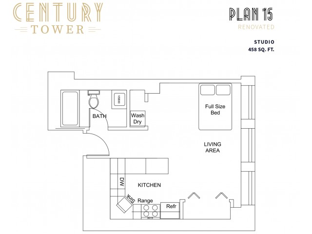Studio Plan 15 Renovated
