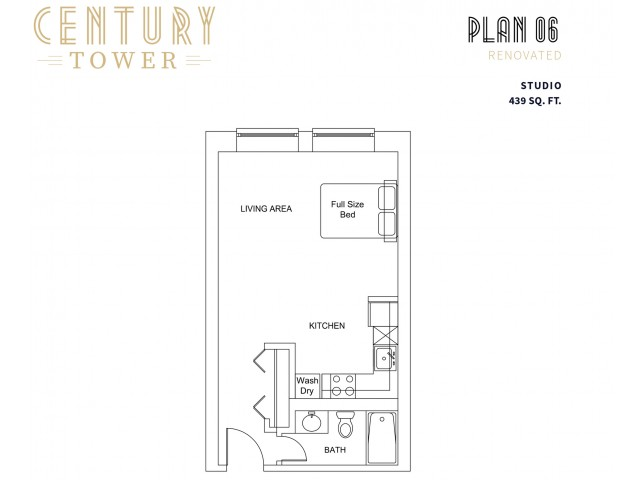 Studio Plan 6 Renovated