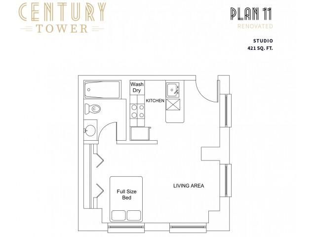 Studio Plan 11 Renovated