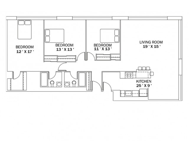 3 Bedroom Floor Plan A